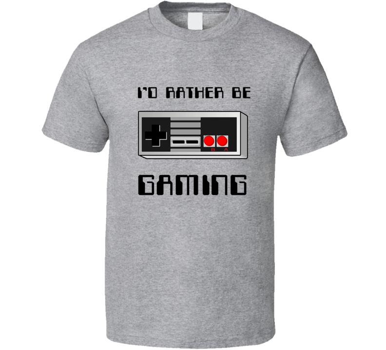 Id Rather Be Gaming Retro Nintendo Controller Geek Gamer T-shirt
