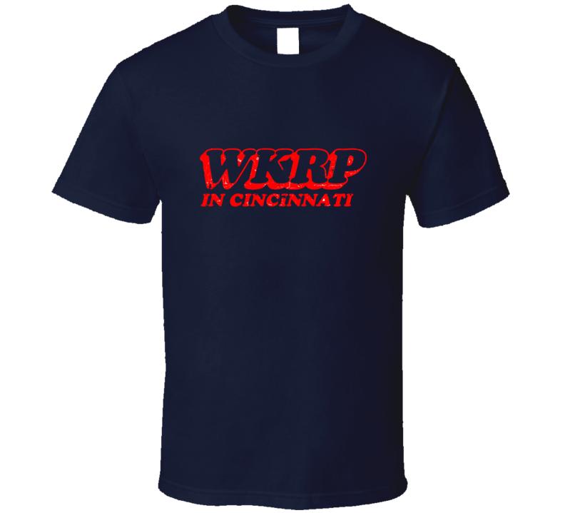 WKRP In Cincinnnati TV Show Logo Retro TV T-shirt