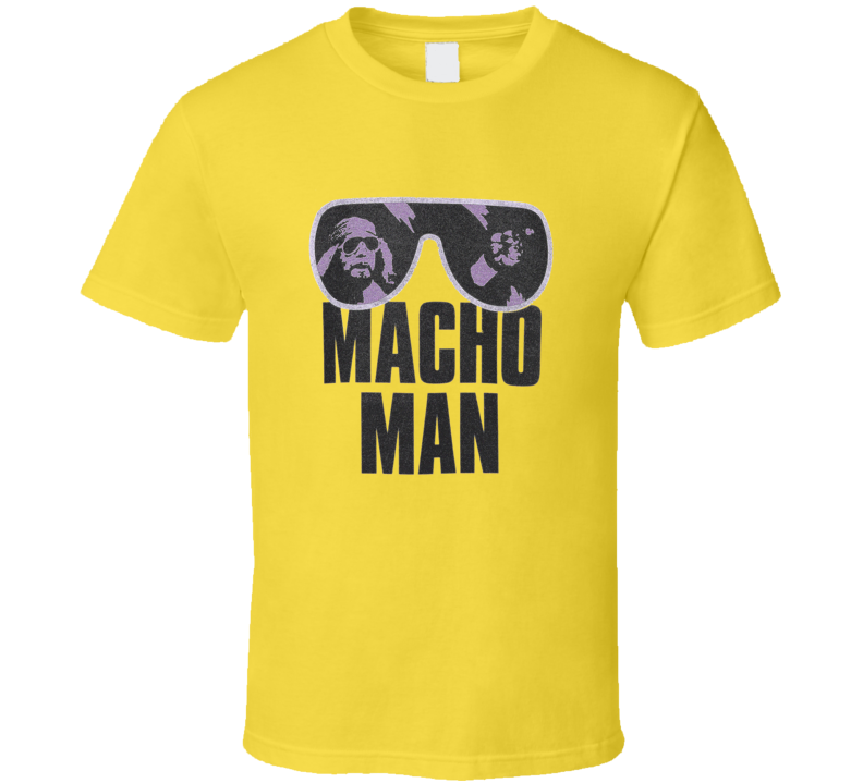 Macho Man Randy Sunglasses Retro Vintange Wrestler T-shirt