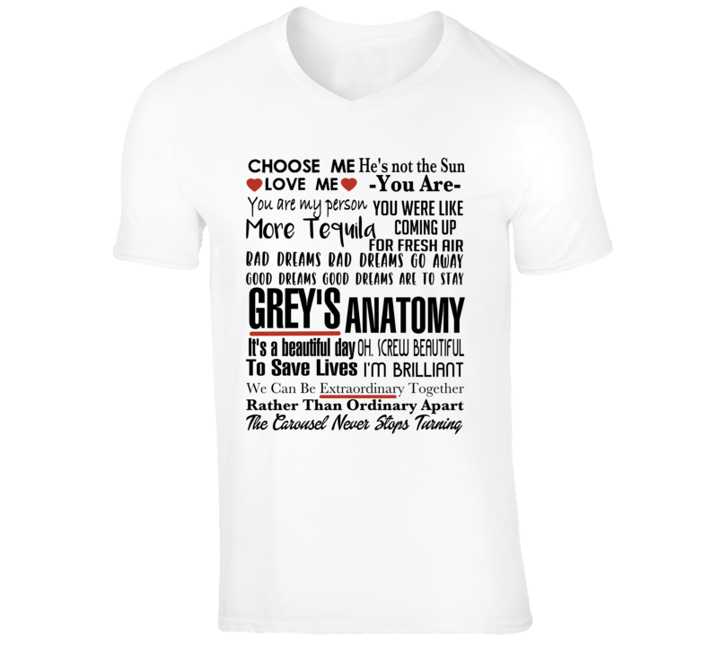 Grey's Anatomy Tv Quote Super Fan Collage T-shirt