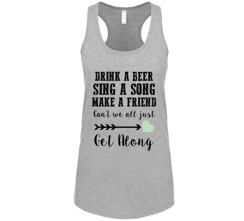 Drink A Beer Sing A Song Kenny Country Music Festival Concert Ladies Tank