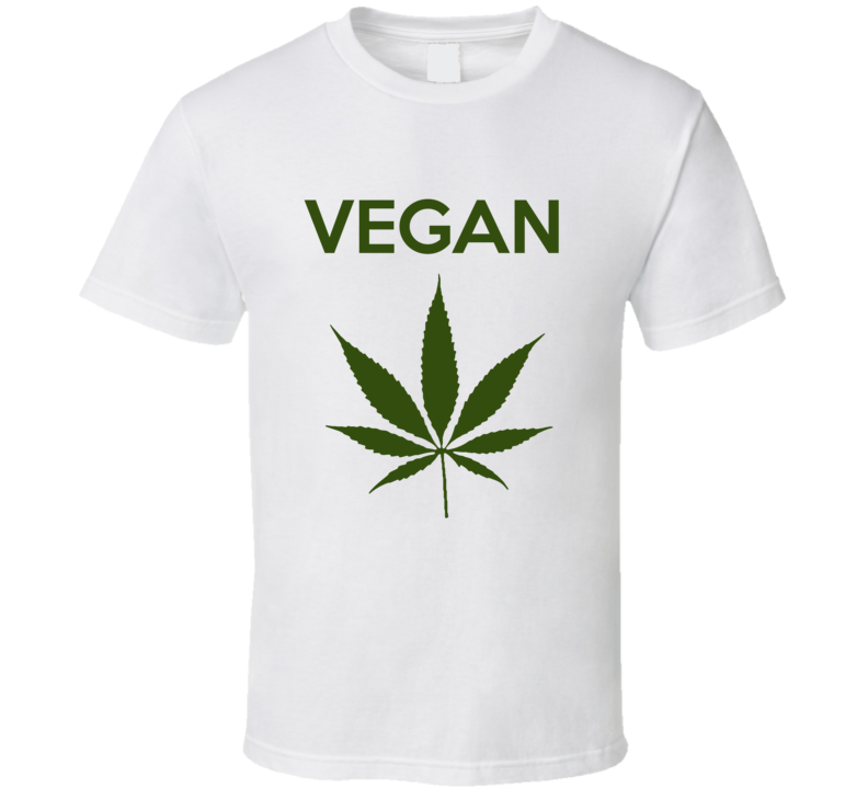 Vegan Green Weed Leaf Funny T-shirt