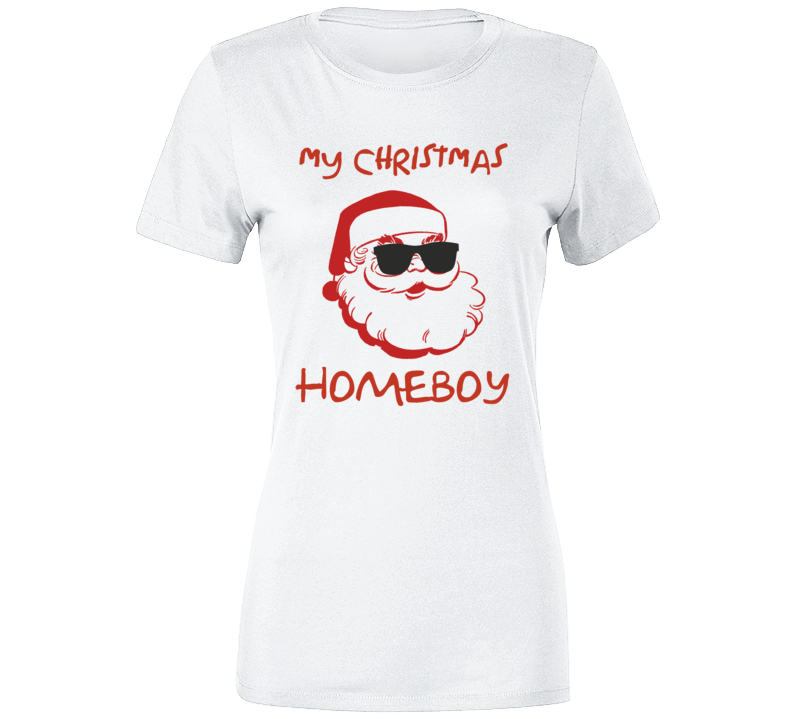 My Christmas Homeboy Red Santa Sunglasses T-shirt