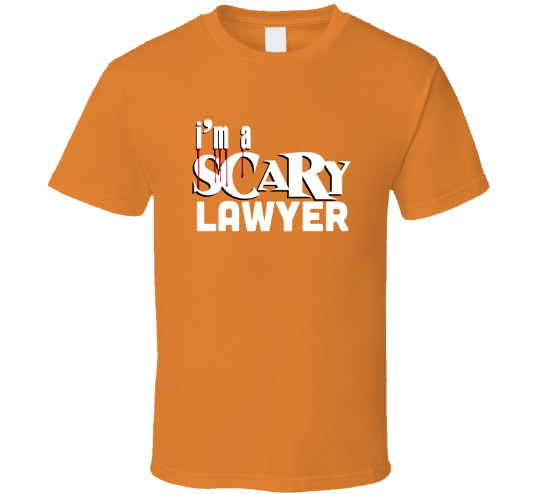 I'm A Scary Lawyer Funny Halloween Costume Party T-shirt
