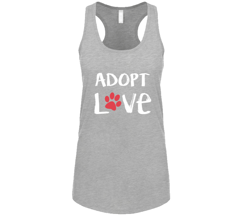 Adopt Love Dog Rescue Dog Support Tank Top