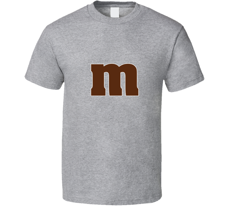 M And M's Candy Letter M Halloween Costume Funny Candy T-shirt