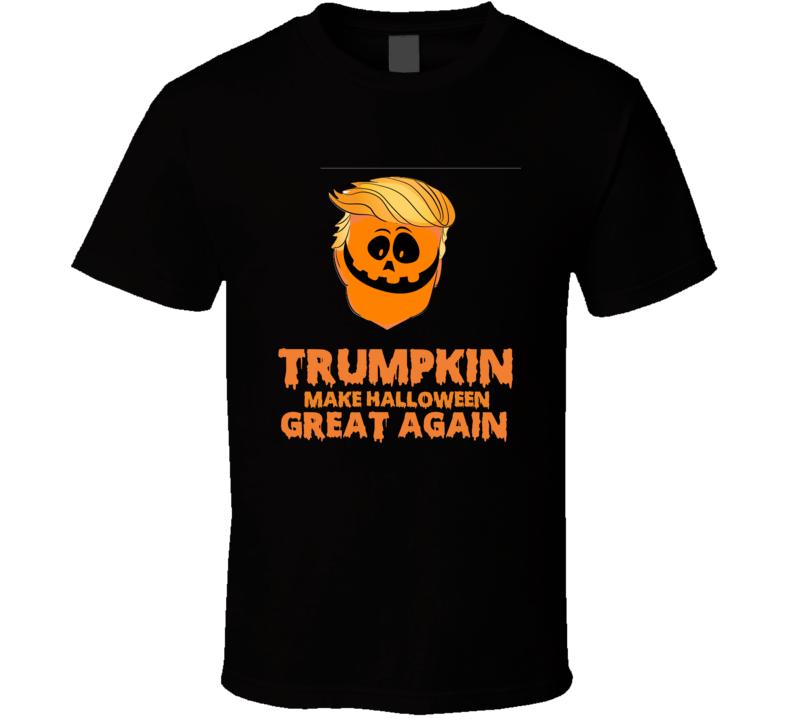 Trump Kin Make Halloween Great Again Donald Trump Pumpkin T-shirt