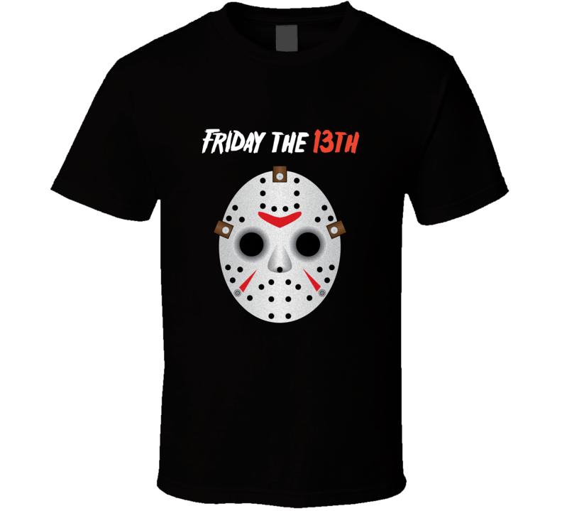 Jason Voorhees Mask Halloween Movie Costume T-shirt