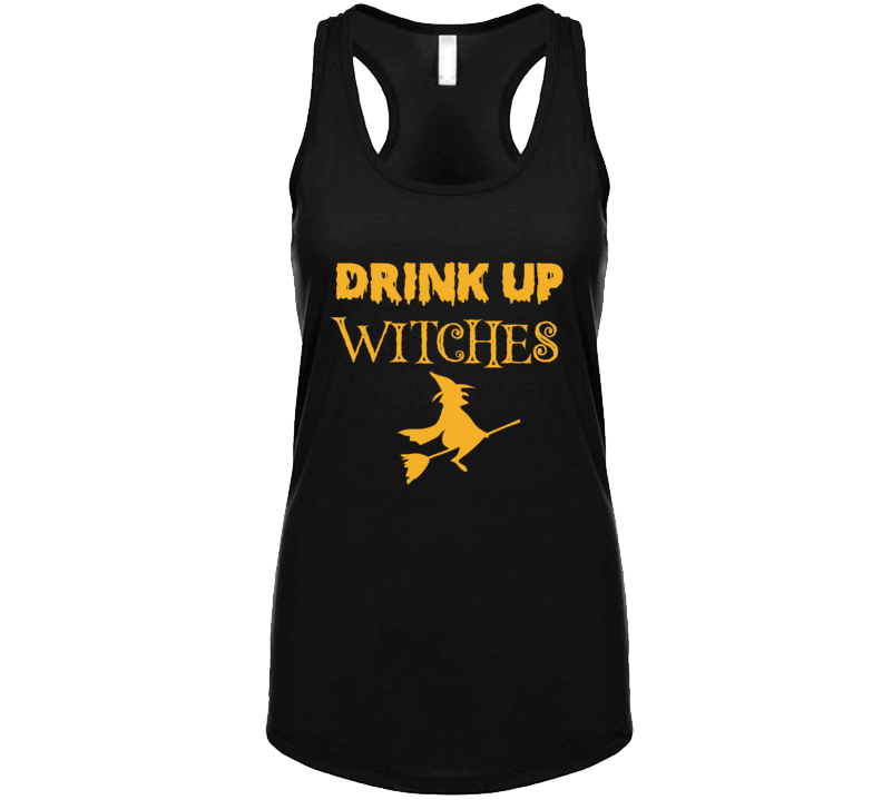 Drink Up Witches Funny Halloween Drinking Party Costume Tank Top