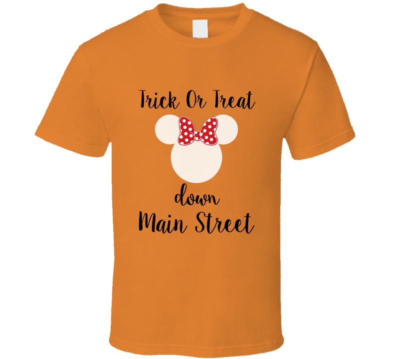 Trick Or Treat Down Main Street Minnie Ears T-shirt