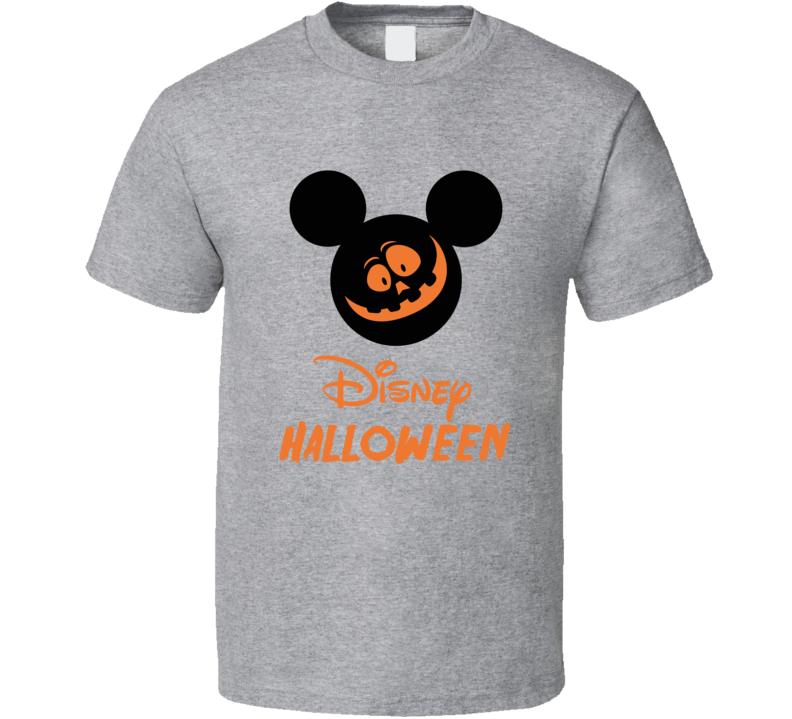 Mouse Ears Halloween Mickey Pumpkin Face Parade T-shirt