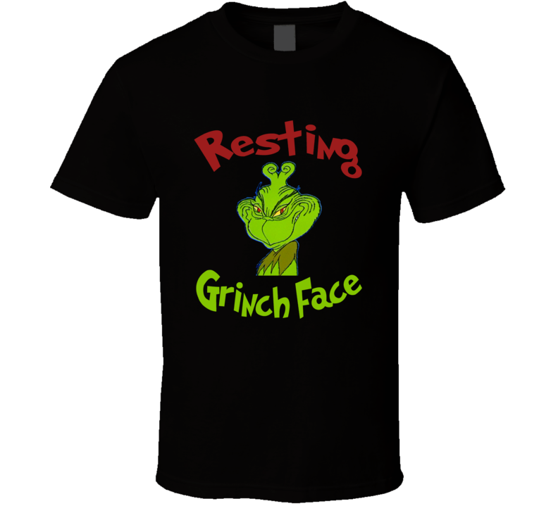 How The Grinch Stole Christmas Resting Grinch Face Retro T-shirt