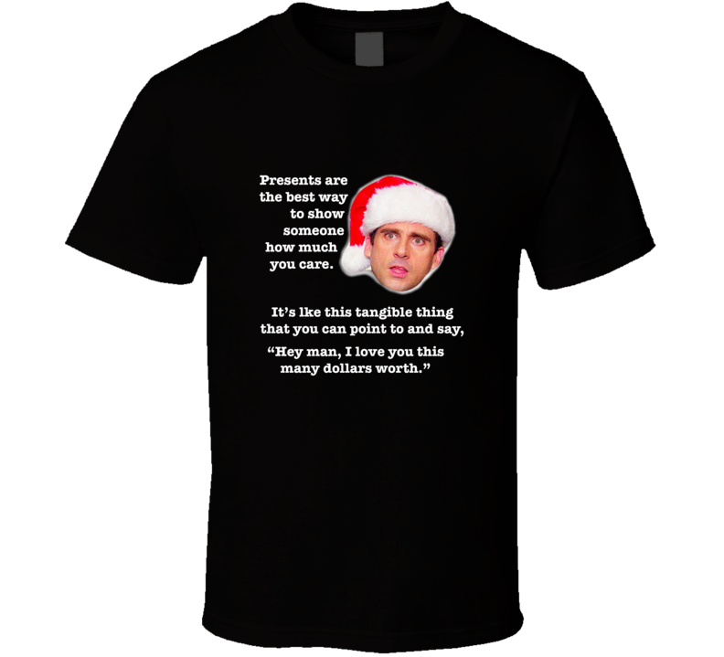 Michael Scott Christmas Episode Santa Hat Quote The Office T-shirt