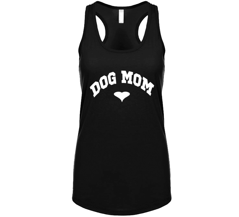 Dog Mom Heart Rescue Dog Lover Tank Top