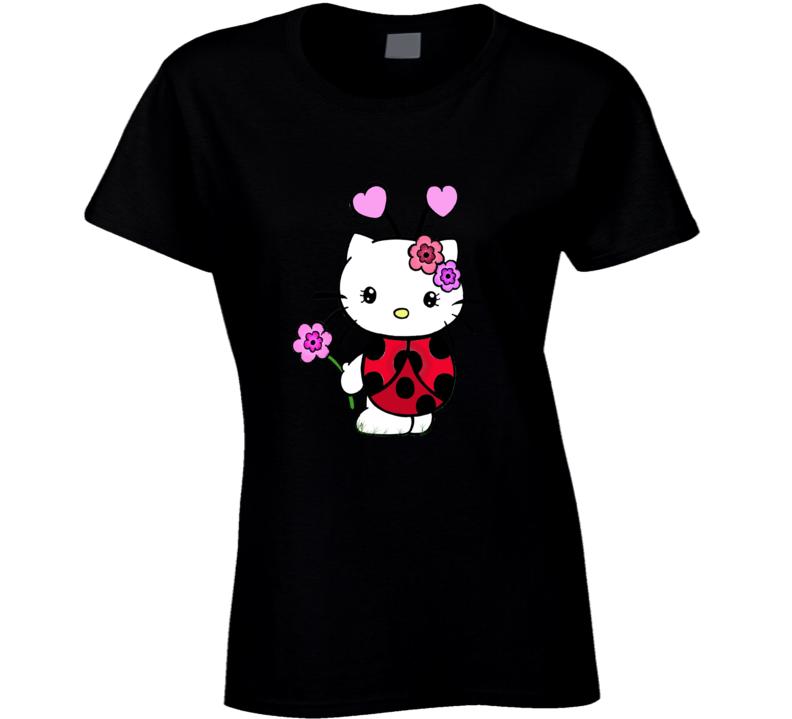 Hello Kitty Valentine Lady Bug Graphic Tshirt