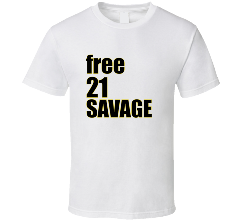 Free 21 Savage Rapper Support Music Trump T-shirt