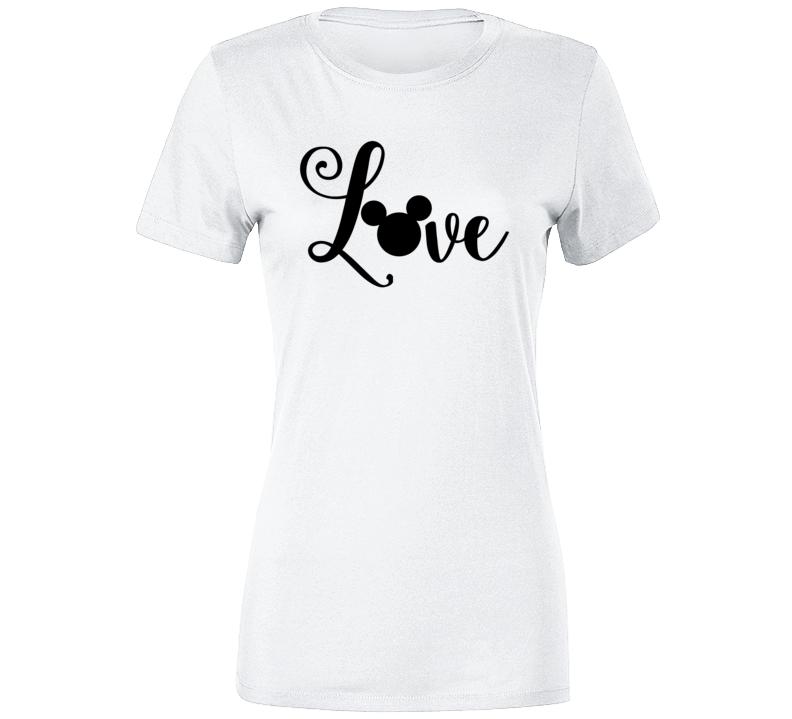 Disney Love Mickey Heart Ears Summer Park Vacation T-shirt