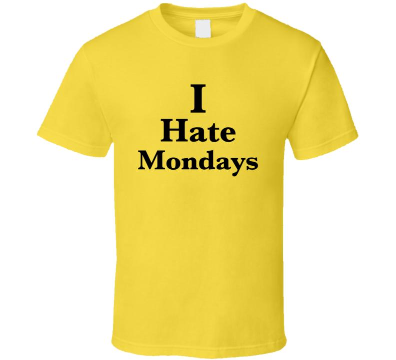 I Hate Mondays Yellow Amy Sch Pregnant T Shirt