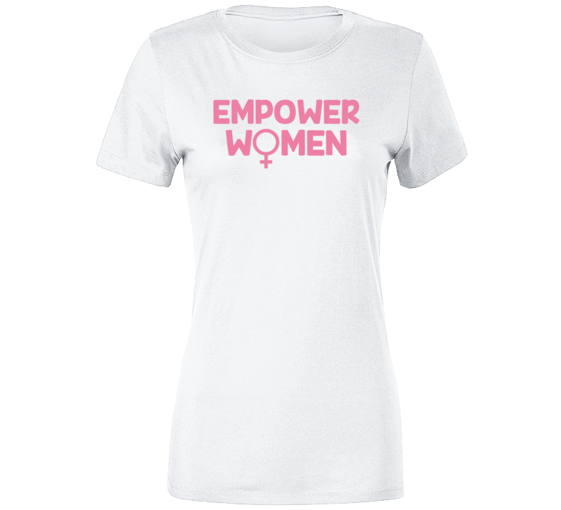 Empower Women Pink Gender Venus Ladies White T Shirt