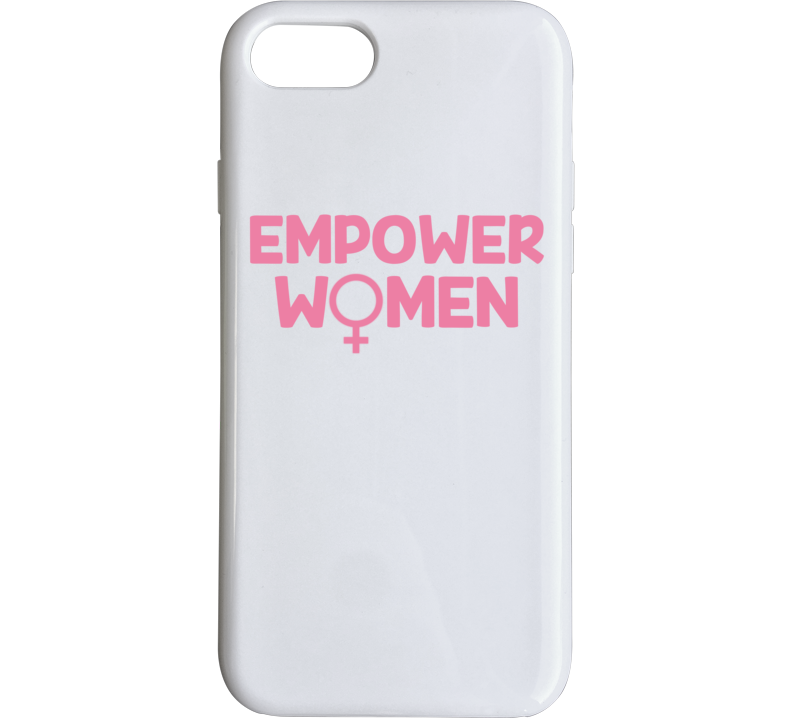 Empower Women Pink Gender Venus Ladies White Phone Case