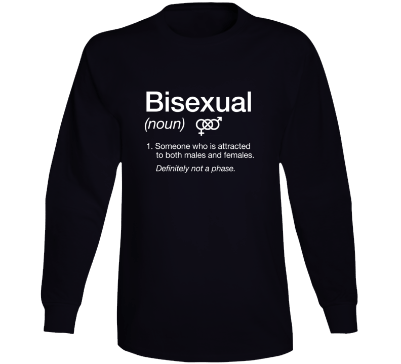 Bisexual Noun Definition Lgbt Community Pride Parade Long Sleeve