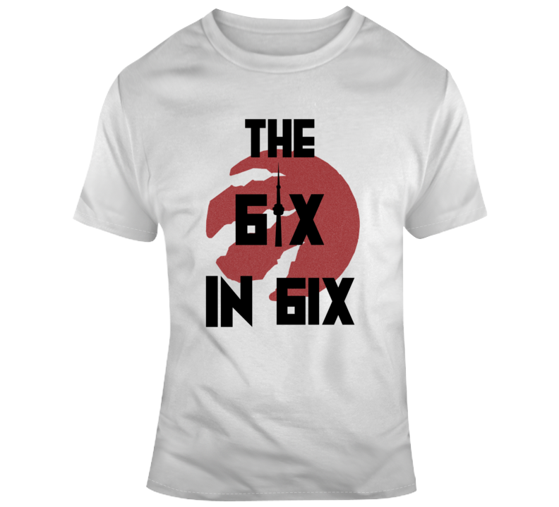The Six In Six Toronto Basketball Champions Claw T Shirt