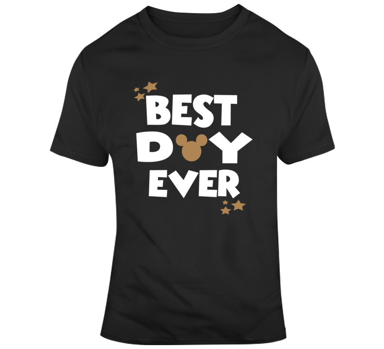 Disney's Best Day Ever Mickey Parade Park Party T Shirt