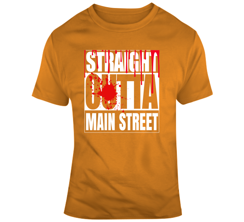 Straight Outta Main Street Mickey Halloween Scary Party T Shirt