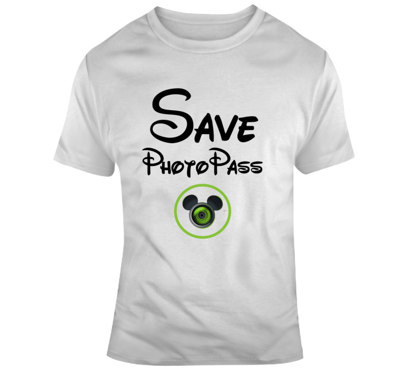 Disney Save Photopass Park Photographers Mickey Support T Shirt