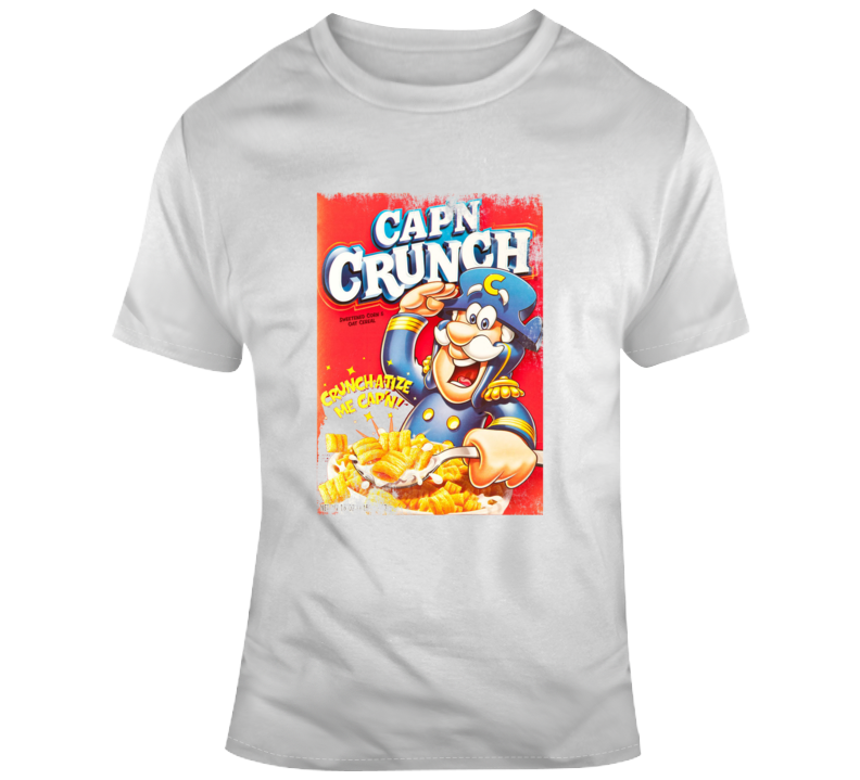 Cap'n Crunch Distressed Vintage Cereal Box T Shirt