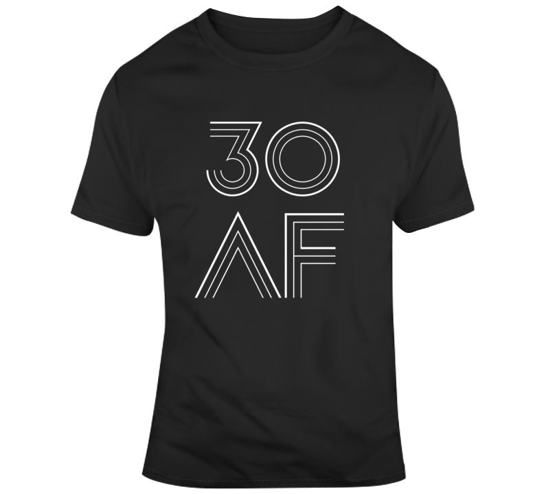 Retro 30 AF Funny 30th Milestone Birthday Disco Party T Shirt
