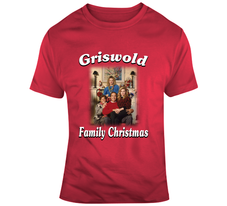 Clark Griswold Family Christmas Portrait Christmas Vacation Movie T Shirt