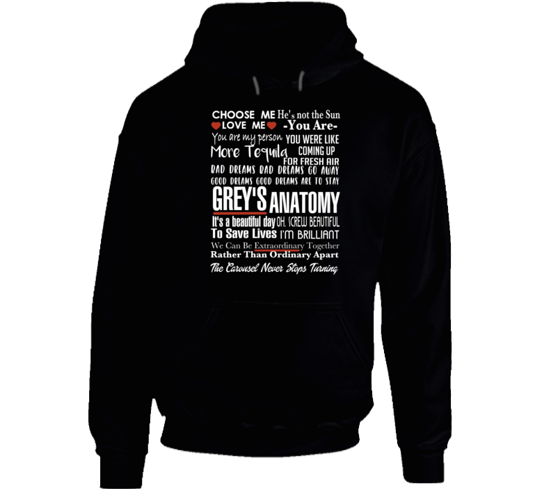 Grey's Anatomy Tv Quote Super Fan Collage Hoodie
