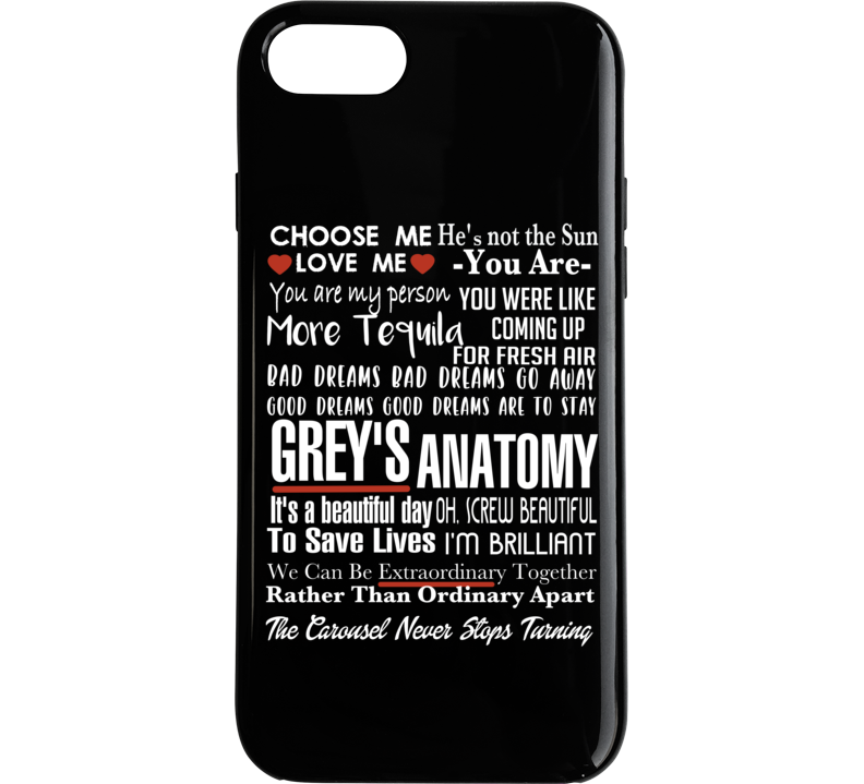 Grey's Anatomy Tv Quote Super Fan Collage Phone Case
