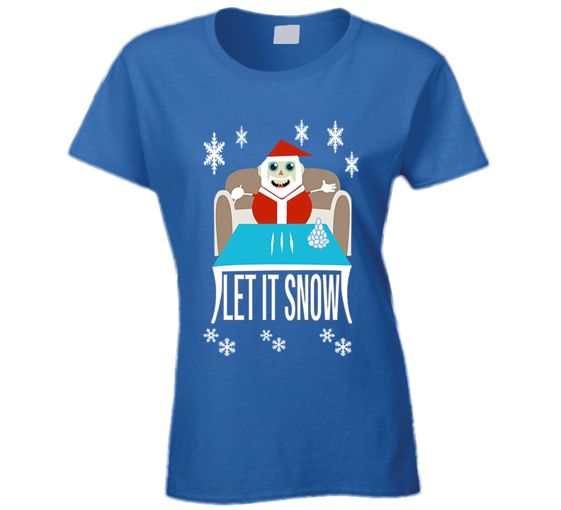 Cocaine Santa Limited Edition Christmas Store Print Sweatshirt Ladies T Shirt