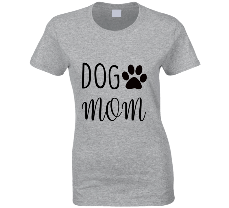 Dog Mom, Dog Love, Rescue Dog Mom Paw Print Ladies T Shirt