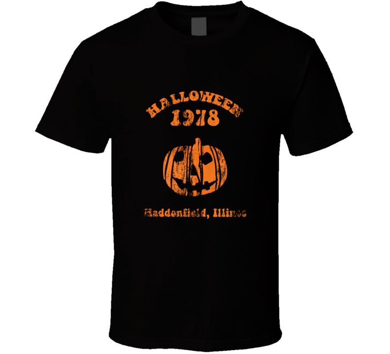 Halloween 1978 Michael Myers Pumpkin Haddenfield T Shirt