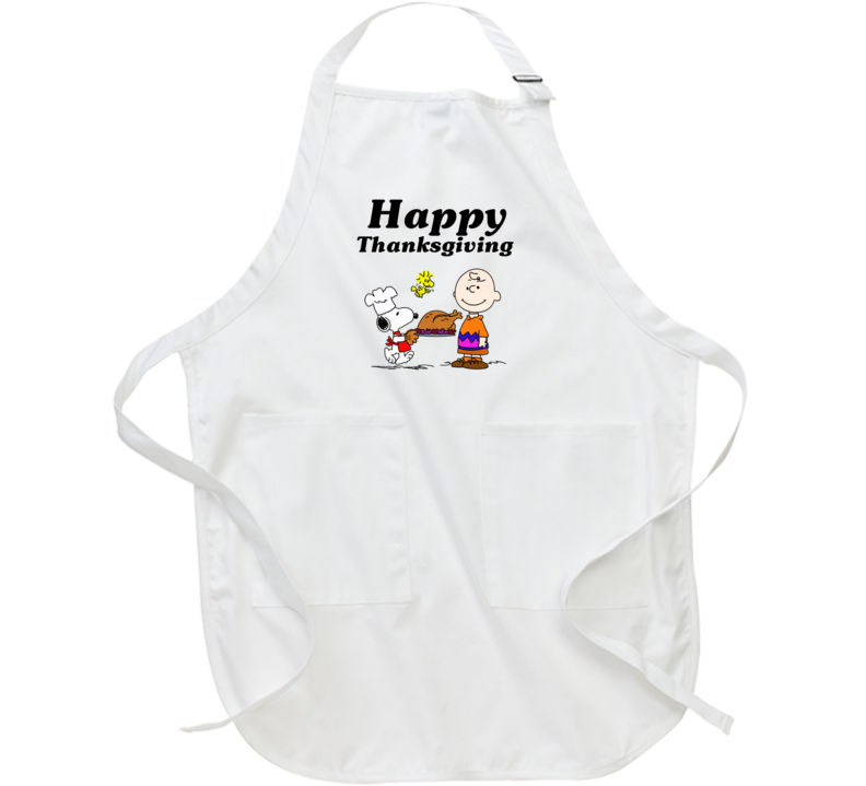 Charlie Brown Snoopy Happy Thanksgiving Graphic Cooking Apron