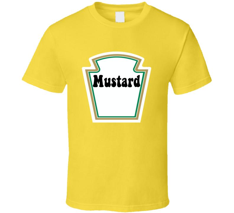 Ketchup & Mustard Matching Couple Halloween Set Easy Costume T-shirts T Shirt