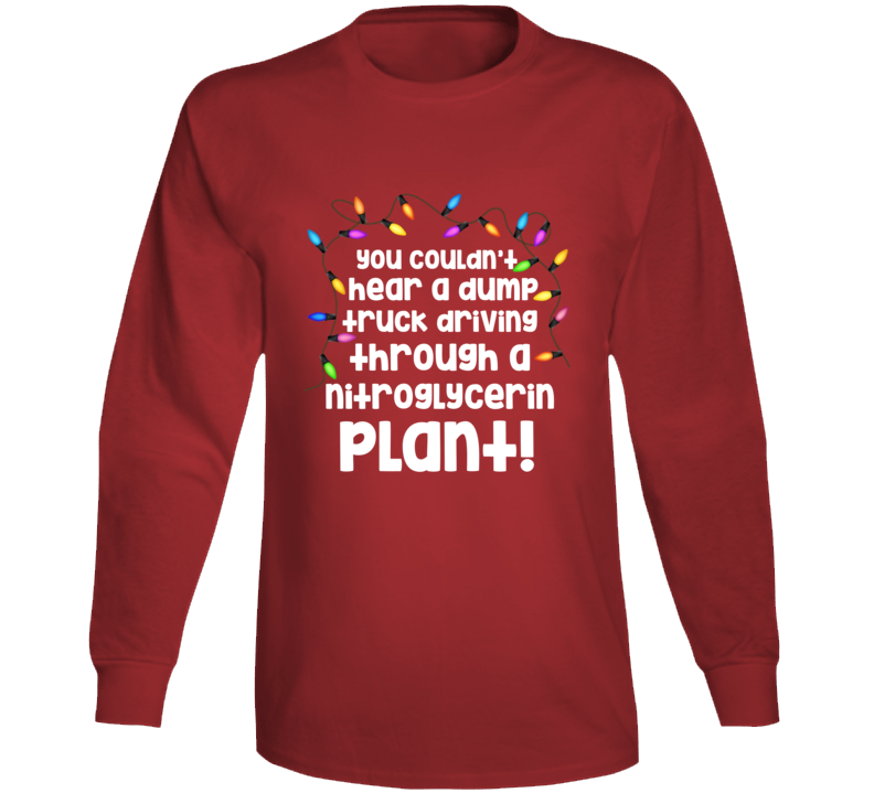 Uncle Lewis Dump Truck Driving Plant Quote Christmas Vacation Long Sleeve T Shirt