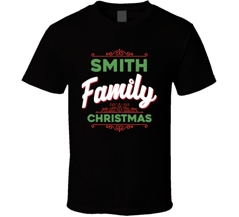 Smith Family Christmas Holidays Custom Last Name Gift T Shirt