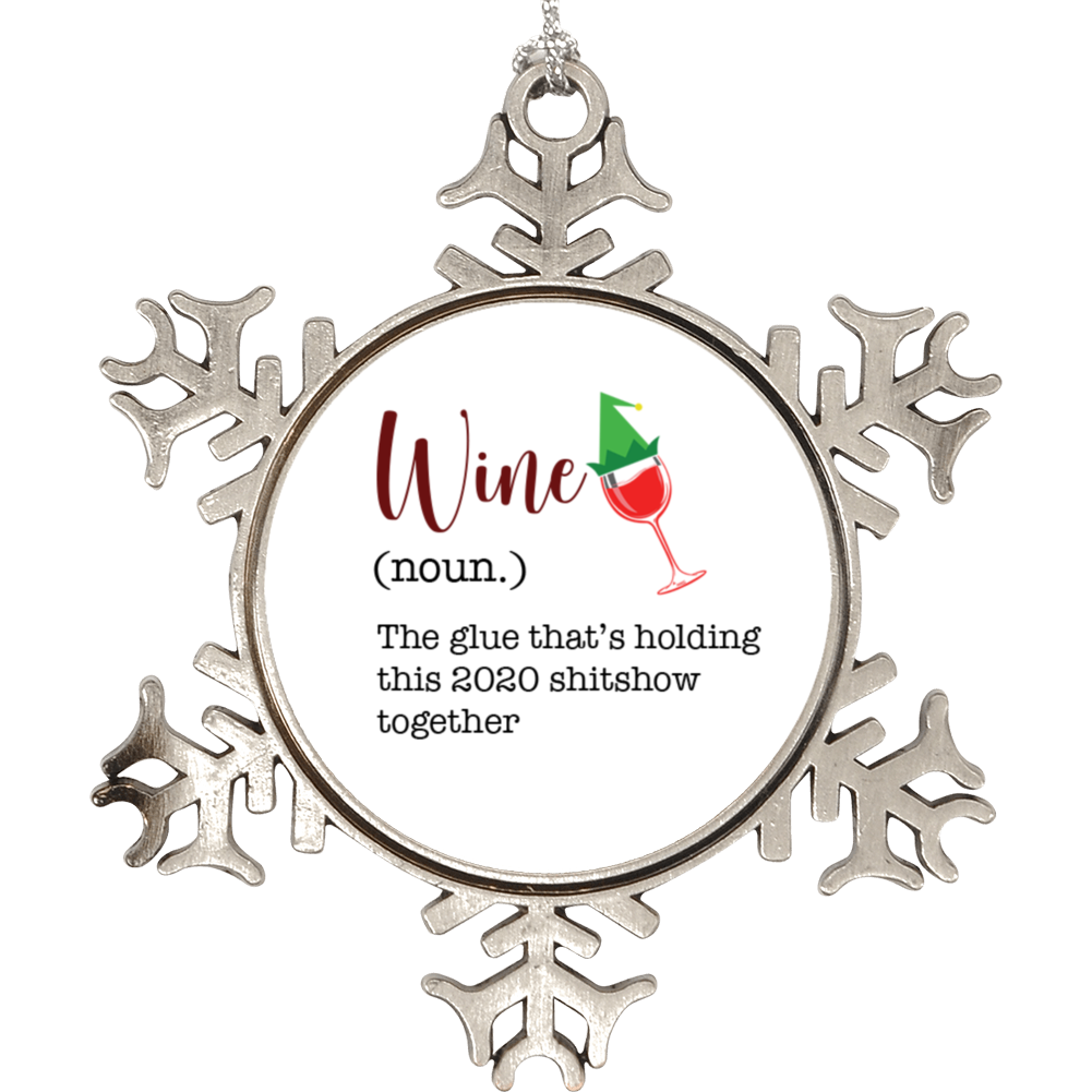 Wine, Noun Definition Funny  2020 Christmas Ornament Holiday Ornament