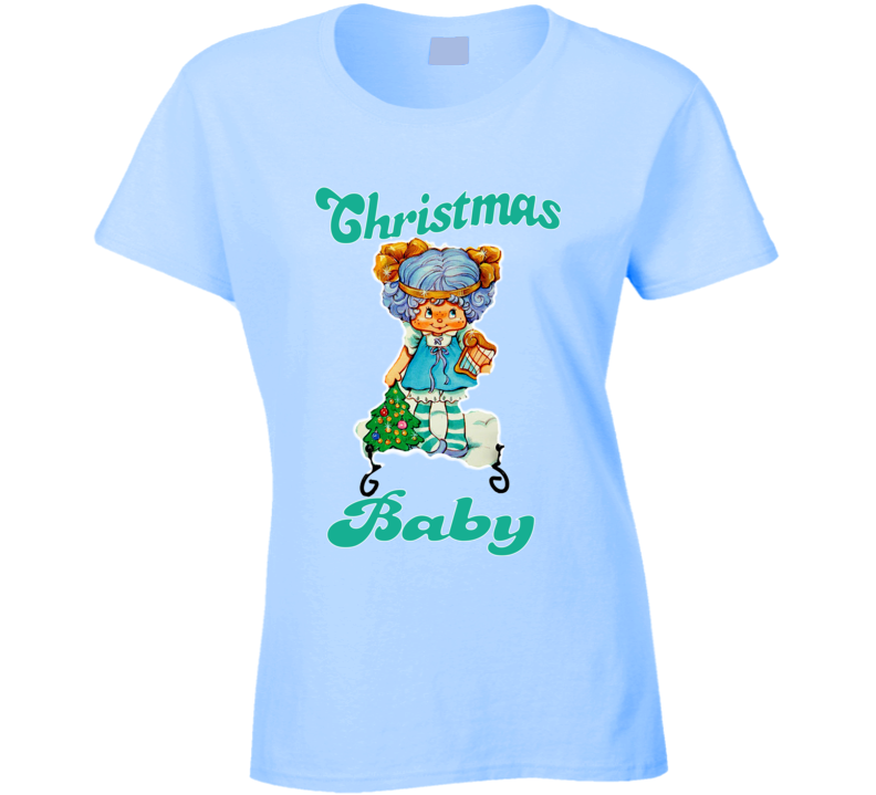 Blueberry Muffin Vintage Cartoon Christmas Baby Cartoon Ladies T Shirt