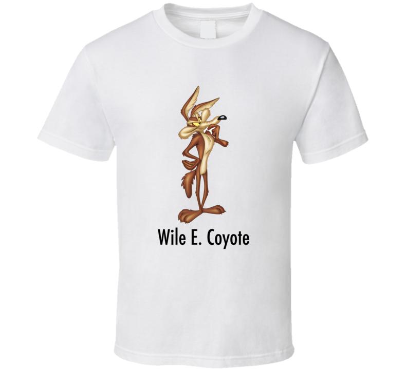 Wile E Coyote Genius Cartoon T Shirt