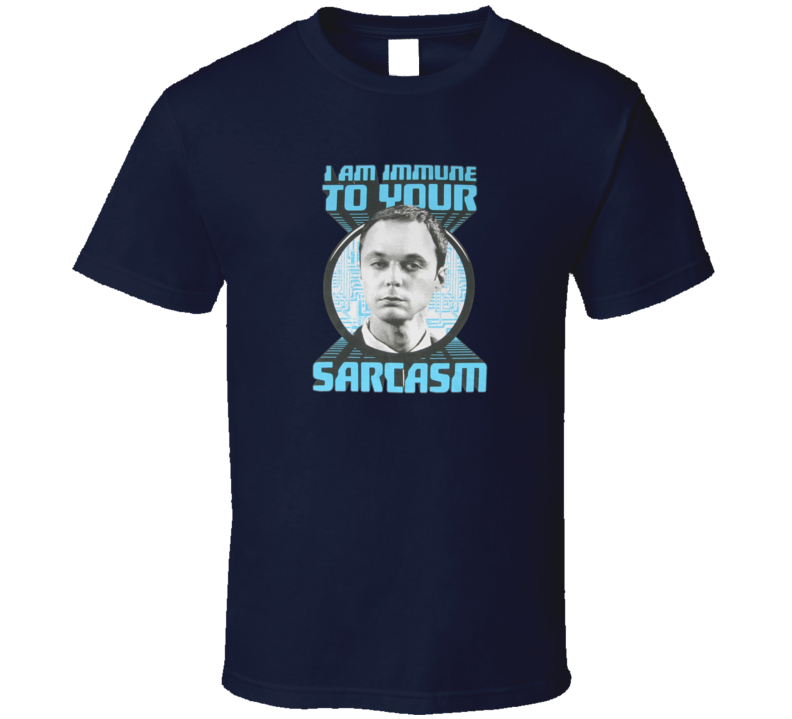 Big Bang Theory Sheldon Cooper I am Immune T Shirt