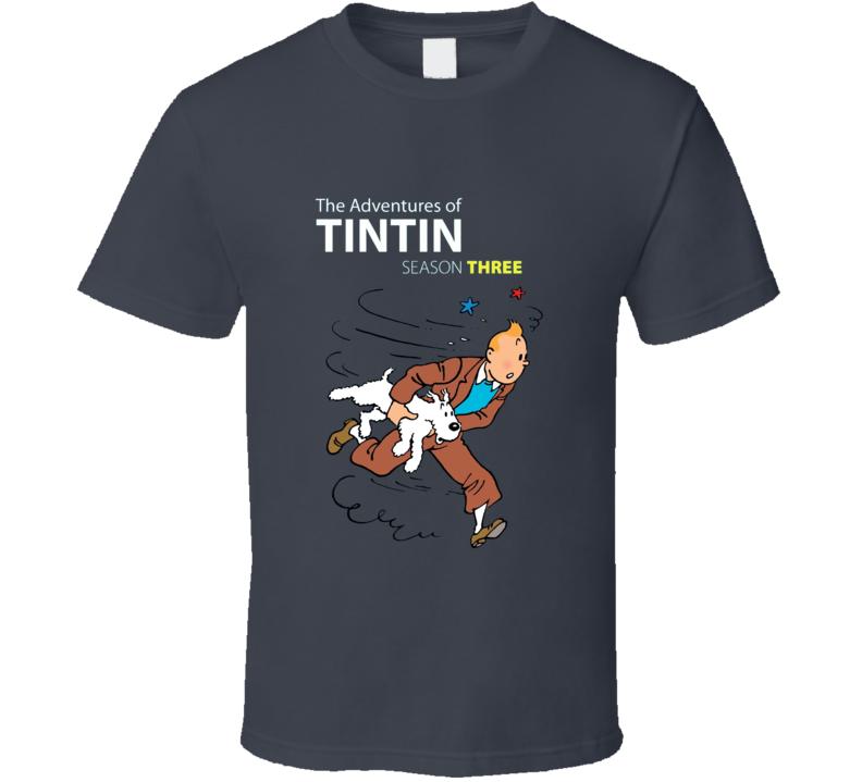 Tintin 3 Charcoal Grey T Shirt
