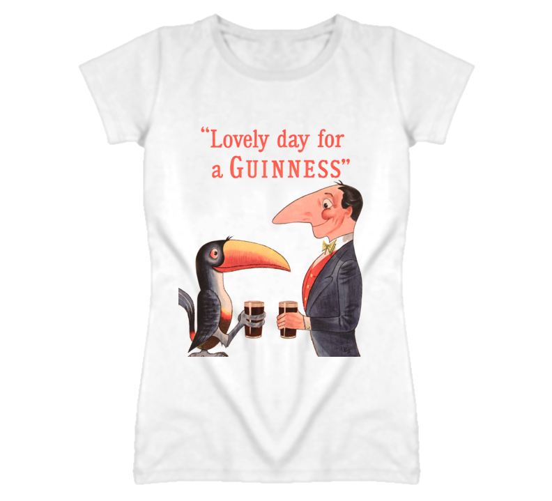 Classic Guinness Lovely Day wh T Shirt