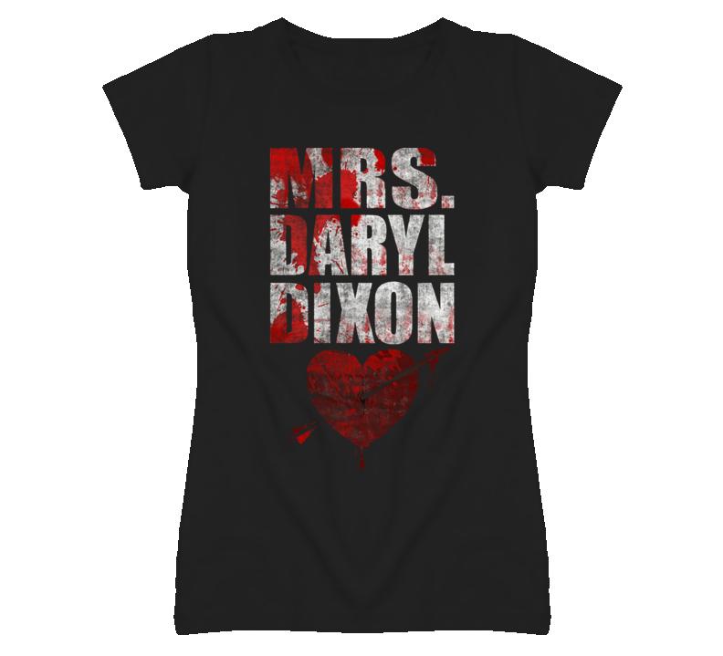 The Walking Dead Mrs Daryl Dixon bl T Shirt