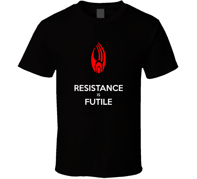 Resistance is Futile Star Trek T Shirt