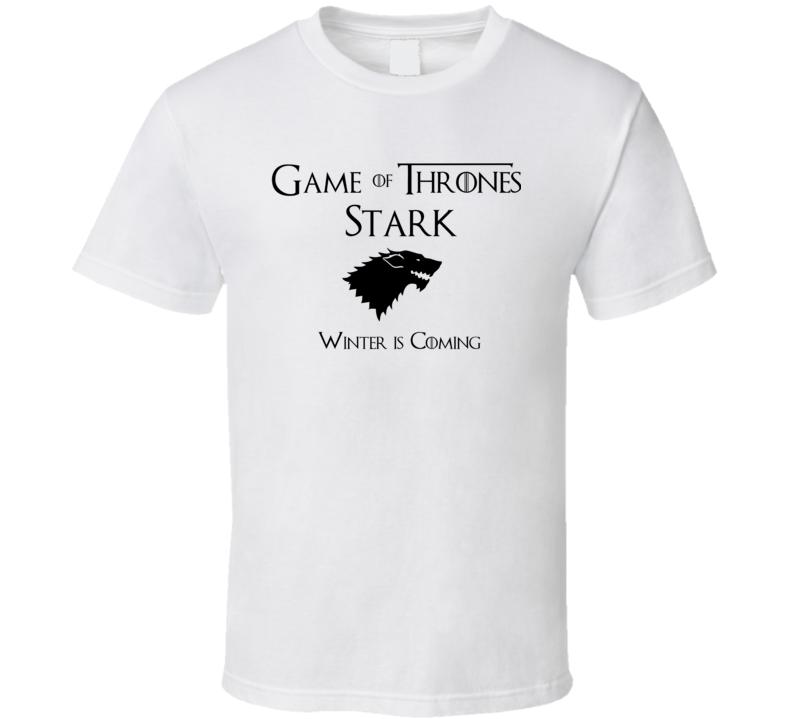 Stark Game of Thrones winter coming T Shirt